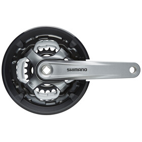 Shimano Tourney FC-TY701 Crank Set square taper  6/7/8-speed, 42/34/24 teeth grey/black